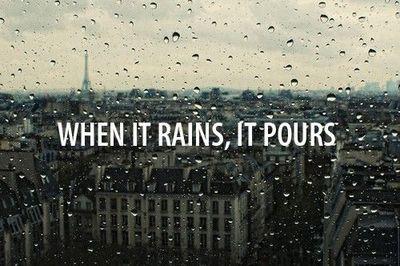 gyder ... regner når det er det